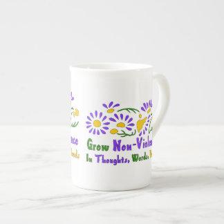 Grow Non-Violence Tea Cup