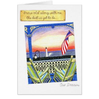 Grow Old Along with Me Anniversary Card