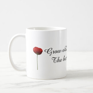 Grow Old Along With Me Red Poppies Gift Mug