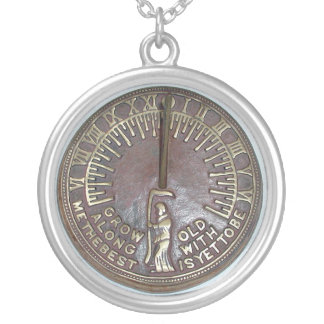 GROW OLD ALONG WITH ME THE BEST IS YET TO BE SILVER PLATED NECKLACE