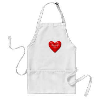 Grow Old With Me Valentine Adult Apron