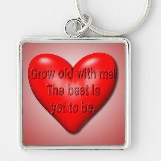 Grow Old With Me Valentine Keychain