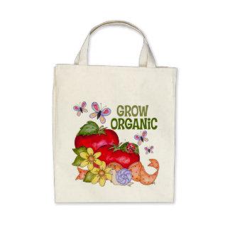 Grow Organic Grocery Tote Bag