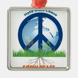 Grow_Peace1.PNG Metal Ornament