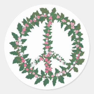 Grow Peace Classic Round Sticker