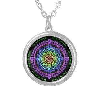 Grow Rainbows Flower Mandala Necklace