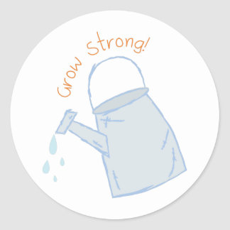 Grow Strong! Classic Round Sticker