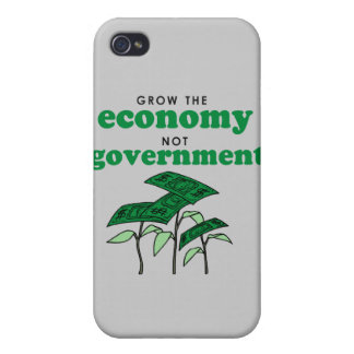 Grow the Economy not government iPhone 4 Case