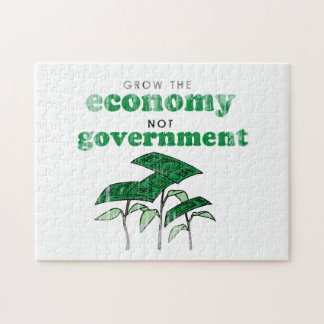 Grow the Economy not government Jigsaw Puzzles