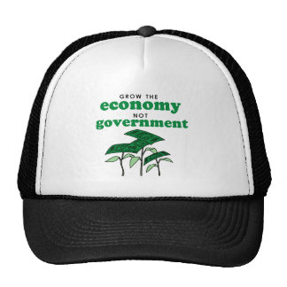 Grow the Economy not government Trucker Hats
