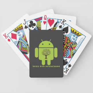 Grow The Ecosystem (Bug Droid Brown Tree) Bicycle Playing Cards