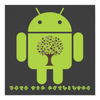 Grow The Ecosystem (Bug Droid Brown Tree) Card