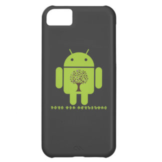 Grow The Ecosystem (Bug Droid Brown Tree) Case For iPhone 5C