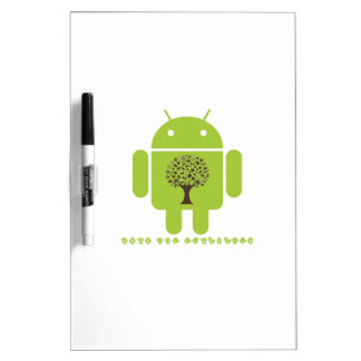 Grow The Ecosystem (Bug Droid Brown Tree) Dry Erase Board