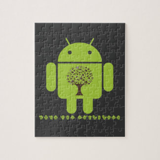 Grow The Ecosystem (Bug Droid Brown Tree) Jigsaw Puzzle