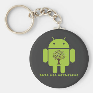 Grow The Ecosystem (Bug Droid Brown Tree) Keychain
