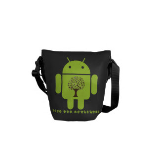 Grow The Ecosystem (Bug Droid Brown Tree) Messenger Bag