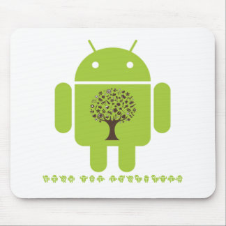 Grow The Ecosystem (Bug Droid Brown Tree) Mousepad