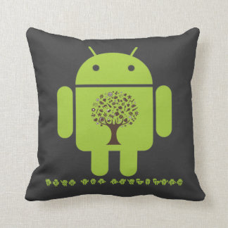 Grow The Ecosystem (Bug Droid Brown Tree) Pillows