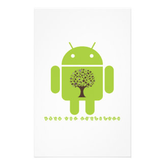 Grow The Ecosystem (Bug Droid Brown Tree) Stationery