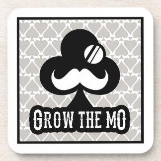 Grow The Mo - Coaster Set - Clubs Edition