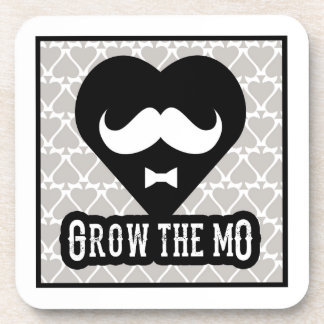 Grow The Mo - Coaster Set - Hearts Edition
