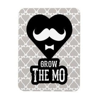 Grow The Mo - Magnet - Hearts Edition