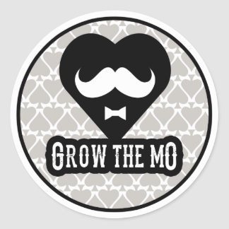 Grow The Mo - Stickers - Hearts Edition