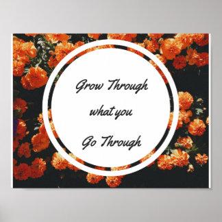"Grow Through What You Go Through 11"" x 8.5"" Poster"