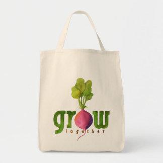 Grow Together (Radish) Grocery Tote Bag