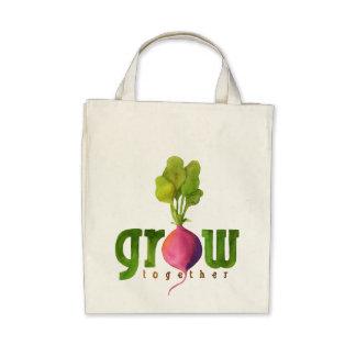 Grow Together Radish Tote Bags