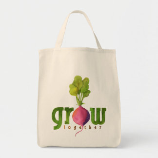 Grow Together (Radish) Grocery Tote Bag