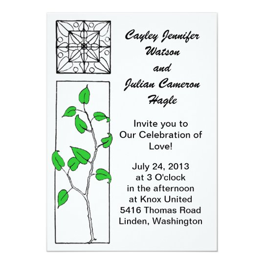 """Grow Together"" Wedding Invite"