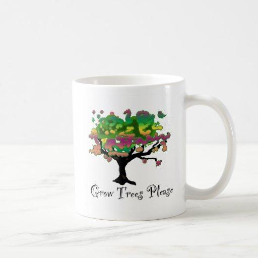 Grow Trees Please T Shirt Coffee Mugs