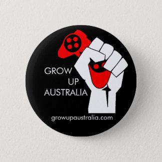 Grow up Australia - Badge Button