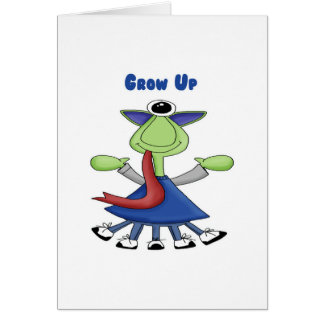 Grow Up Monster Greeting Card