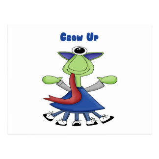 Grow Up Monster Postcard