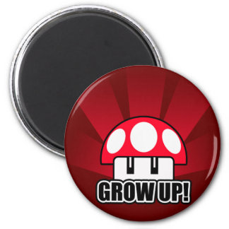 Grow Up Red Mushroom Powerup Magnet