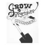 Grow Vegetables Not Government Personalized Letterhead