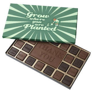 Grow where you are planted assorted chocolates