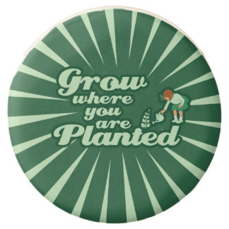 Grow where you are planted chocolate dipped oreo