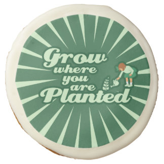 Grow where you are planted sugar cookie