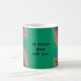 grow with love coffee mug