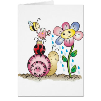 Grow with me! Grandit avec moi! Greeting Cards