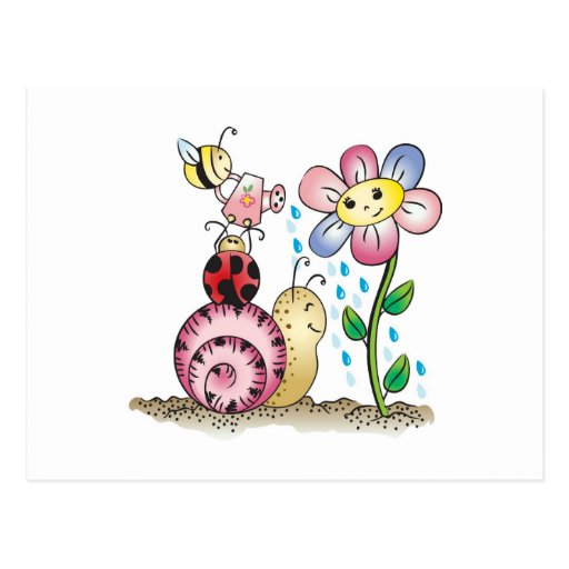 Grow with me! Grandit avec moi! Postcard