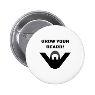 Grow Your Beard! 2 Inch Round Button