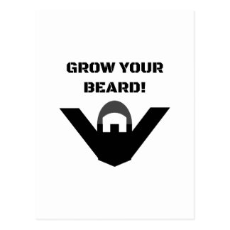 Grow Your Beard! Postcard