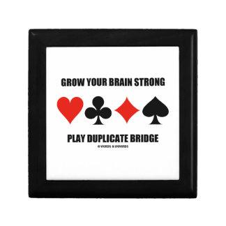 Grow Your Brain Strong Play Duplicate Bridge Gift Box