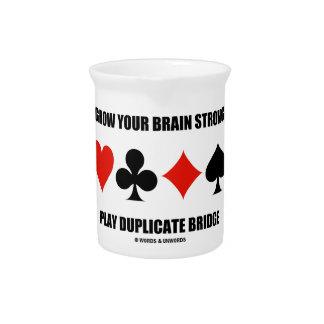 Grow Your Brain Strong Play Duplicate Bridge Pitchers