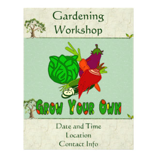 """Grow Your Own 8.5"""" X 11"""" Flyer"""
